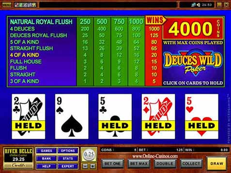 tabella vincite video poker